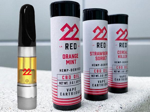22Red CBD Vape Oil Cartridges-CBD products-CBDToday
