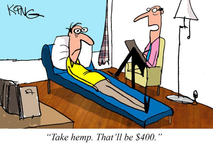 Take hemp Jerry King's hemp cartoon May 2021 CBD Today